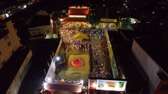 PHUKET, THAILAND October 7, 2016:Aerial:Vegetarian festival.Walking on coals. Stock Footage