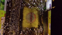 PHUKET, THAILAND October 7, 2016:Aerial:Vegetarian festival. Coals walking. Stock Footage