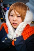 LoveLive! Cosplay Girl in Tokyo Stock Photos