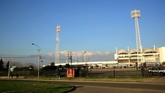 Stadium Monumental of Chile. Stock Footage