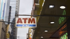 ATM store - exterior - NYC - 2016 Stock Footage