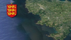 St Martin with Coat Of Arms Animation Map Stock Footage