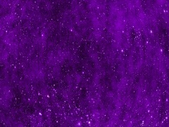 Seamless Rotating Stars and Violet Clouds in Space Stock Footage