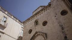 Giovinazzo Spirito Santo church front Stock Footage