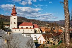 Roman catholic church in Divin village, Slovakia Stock Photos