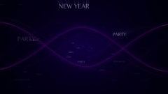 2017, New year, Text Animation Background, Loop, 4k Stock Footage
