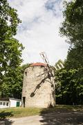 Old tower windmill in Holic, Slovakia, vertical composition Stock Photos