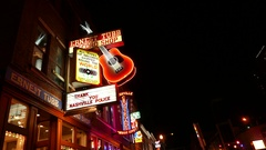 Nashville Ernest Tubb Record Shop Broadway Stock Footage