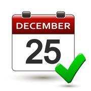 Tear-off calendar with title 25 december Stock Illustration
