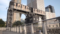 Long Island City, Queens waterfront - NYC Stock Footage