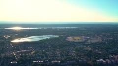 Aerial view of Southeast Yonker with a Hillview Reservoir Stock Footage
