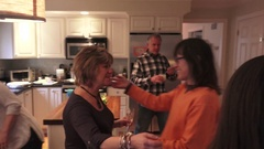 Greeting Family on Thanksgiving Stock Footage