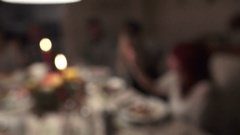 Thanksgiving Meal with Family focus in Stock Footage
