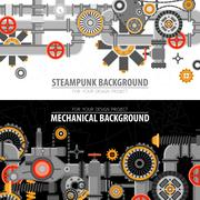 Abstract Technological Horizontal Banners Stock Illustration