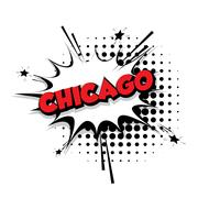 Comic text Chicago sound effects pop art Piirros