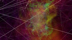 Abstract Plexus Structure Technology Loop background Stock Footage
