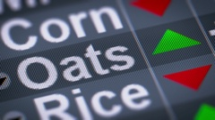 Oat index of stock market. Up. Looping. Stock Footage
