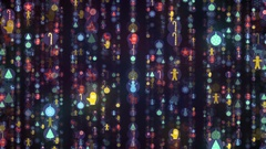 New Year and Christmas Colorful Flight Stock Footage