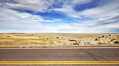 Photo of an empty road, travel concept background. Stock Photos