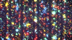New Year and Christmas Pattern Rays Flight Stock Footage