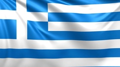 Flag of Greece. Seamless looped video, footage Stock Footage