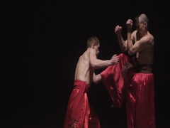 Martial Arts Dance Cossacks Choreography Slow Motion Stock Footage