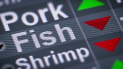 Fish index of stock market. Down. Looping. Stock Footage