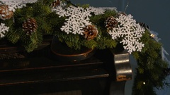 Christmas tree and decoration with piano. Stock Footage