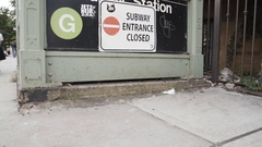 Abandoned Subway Station - Broadway - Brooklyn, NYC Stock Footage