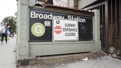 Closed NYC Subway Station Under Construction Stock Footage