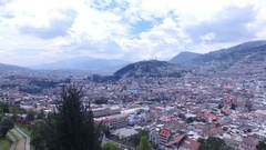 In the Direction of the Panacillo in Quito, Ecuador Stock Footage