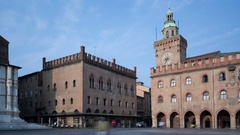 4K Timelapse Bologna Piazza Maggiore Stock Footage
