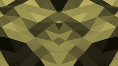 Yellow Geometric Wave  Vj Loop Background Stock Footage