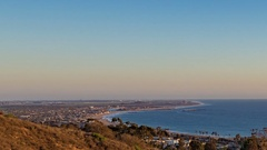 Ventura California day to night time lapse 3 Stock Footage