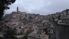 Matera time lapse Day night landscape Stock Footage