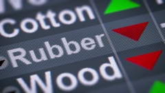 Rubber index of stock market. Down. Looping. Stock Footage
