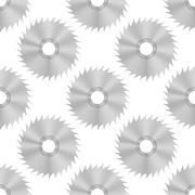 Circular Saw Steel Disc Seamless Pattern Stock Illustration