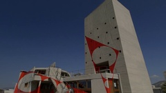 Brutalist apartment architecture, Le Corbusier, Marseille, France Stock Footage