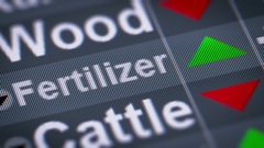Fertilizer index of stock market. Up. Looping. Stock Footage
