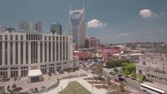 Nashville Aerial shot Stock Footage