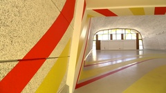 Modernist architectural design concepts, Le Corbusier, Marseilles Stock Footage