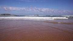 Waves in the Cantabrian sea Stock Footage