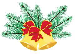 Vector Christmas Bells Piirros