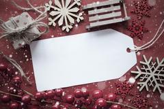Nostalgic Christmas Decoration, Label With Copy Space Kuvituskuvat