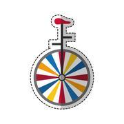 Vintage unicycle circus Piirros