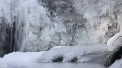 Lot of ice forms on river at spring Stock Footage