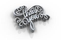 Illustration of thank you text Stock Illustration