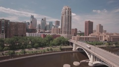 Skyline of Minneapolis Stock Footage