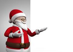 Close-up of 3D santa claus figurine gesturing Stock Illustration