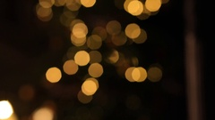 The candle on the background of the Christmas tree. Stock Footage